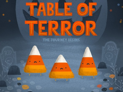 Table Of Terror sweet candy illustration october halloween candy corn