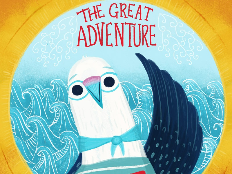 The Great Adventure book cover kidlit book wip development character design illustration bird