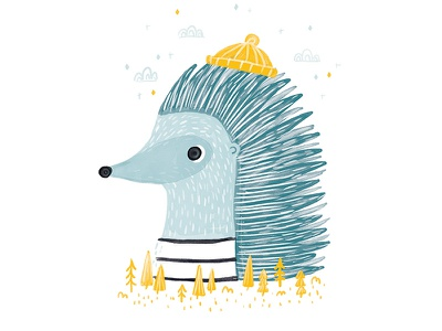 Creature Series Character 6: Hedgehog kidlit wip development character design illustration hedgehog