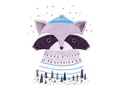 Creature Series Character 7: Raccoon kidlit wip development character design illustration raccoon