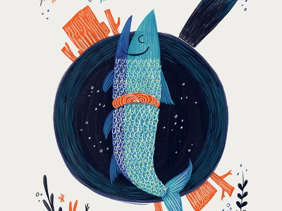 Irish Tales : The Salmon of Knowledge  story folklore legends myth irish tales ireland book bookcover illustration