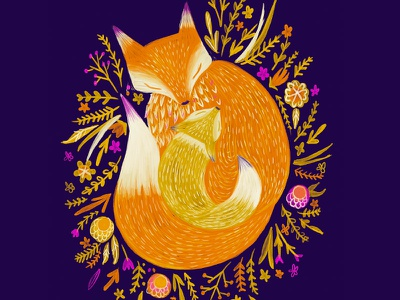 Foxy mom type illustration mom fox