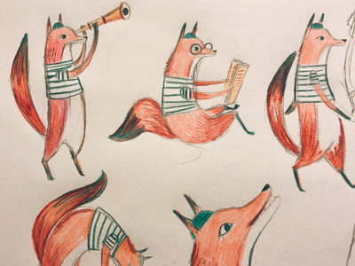 Sketching foxes
