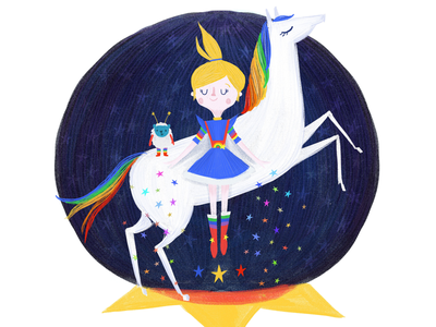 Before sailormoon there was RAINBOW BRITE illustration horse girl character rainbow
