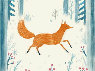 Wintery and foxy