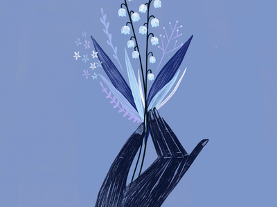 Lily of the valley snippet blue floral flowers