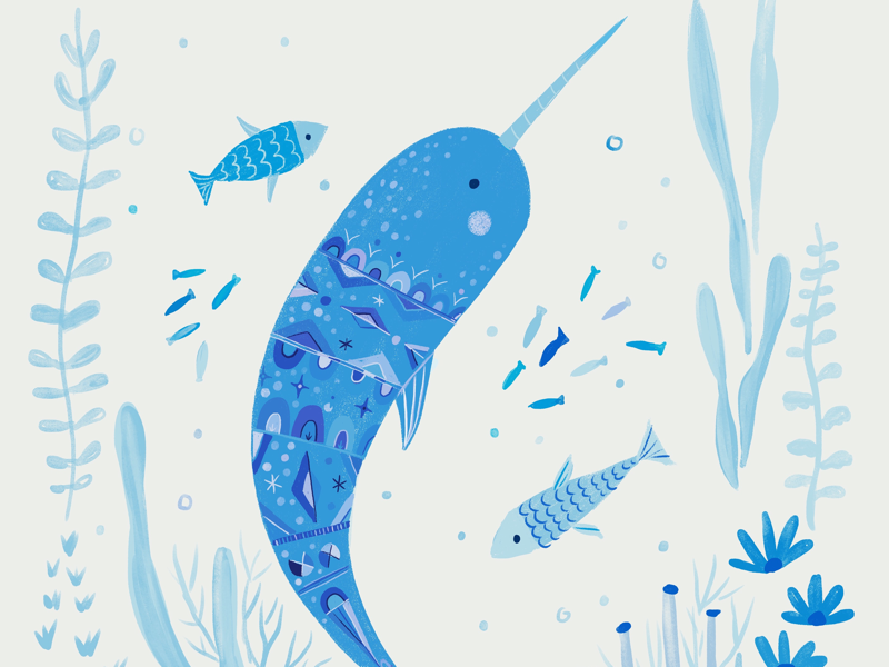 Good night fishies. narwhal