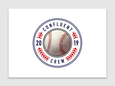 Confluent Crew | Baseball baseball shield intern internship startup technology tech graphic design team crew flat design flat vectorart logo vector confluent illustration design