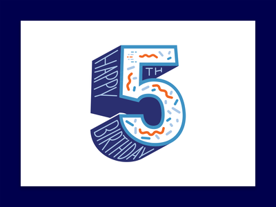 Happy 5th birthday to Confluent! 5 five birthday branding flat design flat typography vector illustration design graphic design confluentdesignteam confluent