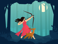 Artemis - The Goddess of the hunt, moon and chastity