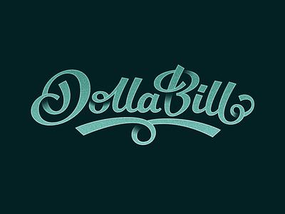 DollaBill money green logo design handlettering dollar bill type custom lettering