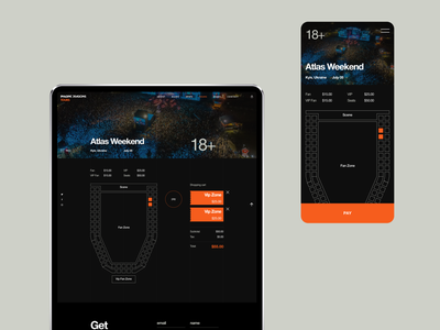 Imagine Dragons: places booking flat web ux ui interaction victtoriodetroy protopie principle aftereffects animation design booking concert dark theme uxui animations imagine dragons