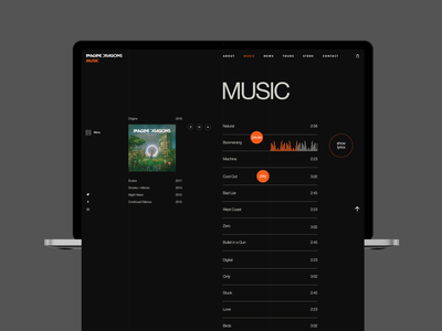 Imagine Dragons: band's music uxui ux ui imagine dragons dark theme concert booking animations animation design aftereffects