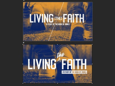 Living the Faith Sermon Series by Marli Creeach on Dribbble