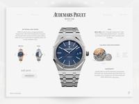 Audemars Piguet Webdesign