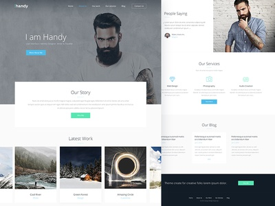 Handy — Portfolio Theme handy ux ui theme product portfolio services photography personal grid gallery