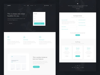 Business Landing Page ux ui theme services landing grid gallery corporate agency
