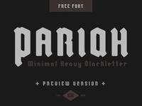 PARIAH - Free font logo branding poster art font blackletter free hand-drawn typography design