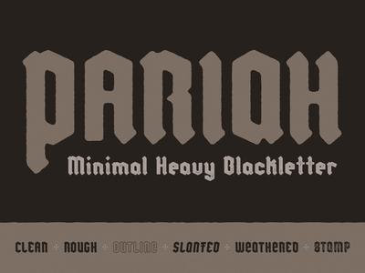 PARIAH stamp texture font design poster art hand-drawn typography