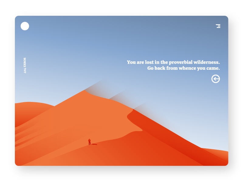 DAILY UI - 404 PAGE