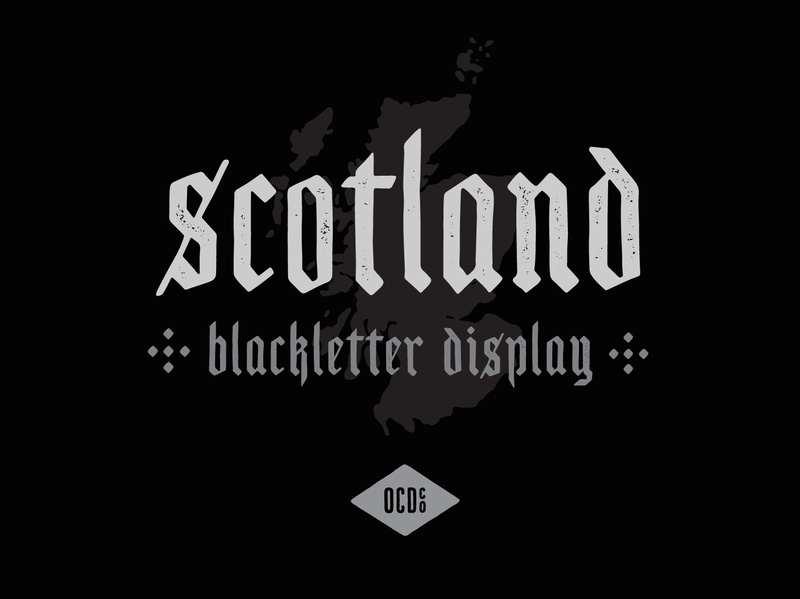 Free Font - Scotland illustration drawing letters blackletter scotland typography