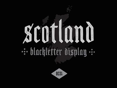 Free Font - Scotland illustration drawing letters blackletter scotland typography