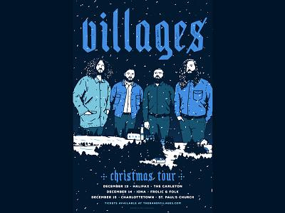 Poster design christmas canada cape breton band art winter poster art typography design illustration