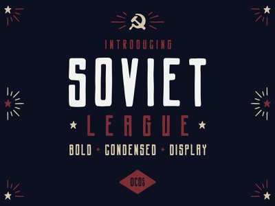 New Font - Soviet League soviet logo design typography illustration