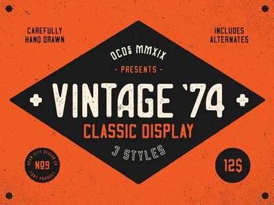 Vintage '74 classic display font