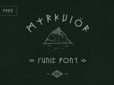Free font Friday - Myrkvior
