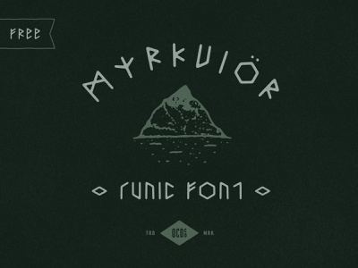 Free font Friday - Myrkvior runic free texture history vintage logo font branding vector poster art hand-drawn typography design illustration nordic