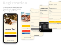 Registration for Travel App | Mobile App for iOs |