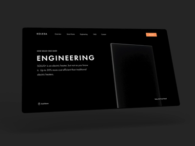 Solus+ Engineering page marketing website smart home home control radiator tech websites typography landing page user interface user experience design ux ui