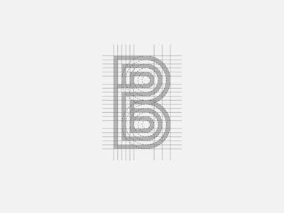 """""""B"""" Monogram Grid"""