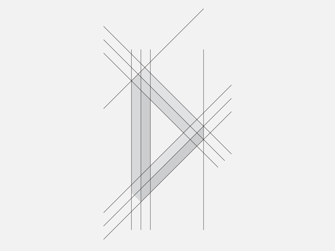"""D"" Monogram Grid vector typography type stationery monogram minimal logotype logo lettering illustration identity design identity icon graphic flat design branding design branding badge 2d"