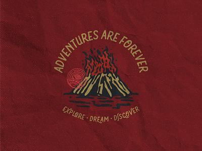 Explore • Dream • Discover badgedesign illustration design