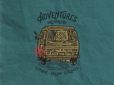 Adventures are Forever badges design clothing