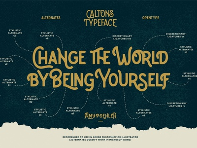 Caltons Typeface Alternates - Opentype display font font display font bundle font design font typeface design typefaces type design font creator crafted font crafted crafted font ligatures font alternates opentype vintage fonts vintage font font family typeface family typeface