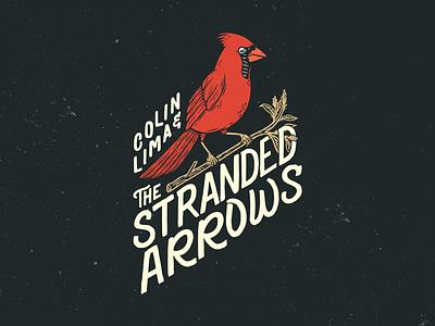 Colin Lima and Stranded Arrows Band Logo. vector typography logo illustration design branding