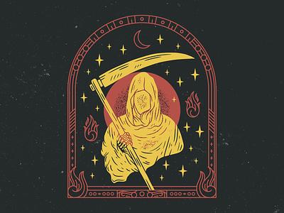Fuckin Grin Reaper logo vector typography illustration branding design