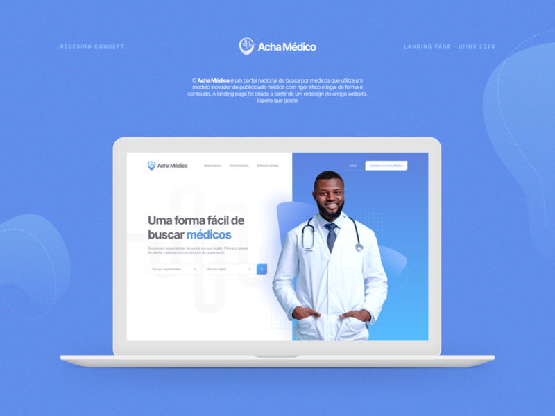 Landing Page Acha Médico (Redesign)