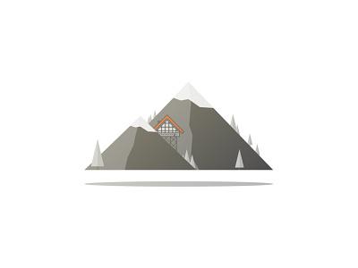 Mountain House design illustrator house mountain
