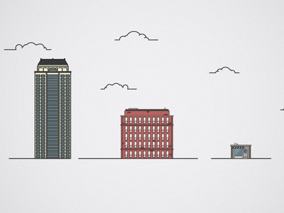 Small, Medium or Large illustrator large medium small sizes clouds buildings