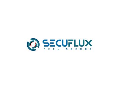Secuflux flat minimal web ux ui branding minimalist concept vector logo design