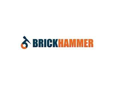 Brickhammer Visuals hammer folder envelope letterhead business card creative branding typography minimalist concept vector logo design