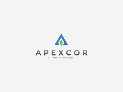 Apexcor Visuals folder envelope business card letterhead finance creative branding typography minimalist concept vector logo design
