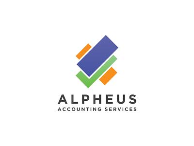 Alpheus Visuals businesscard envelope folder letterhead creative branding typography minimalist concept vector logo design