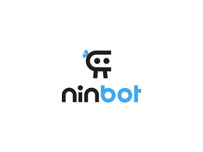 Ninbot Logo saas ninja icon creative branding illustration typography minimalist concept vector logo design