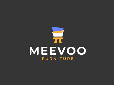 Meevoo Logo furniture store furniture branding illustration typography minimalist vector logo design