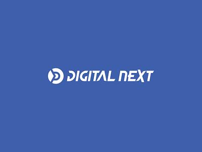 Digital Next Logo tech creative branding illustration typography minimalist vector logo design